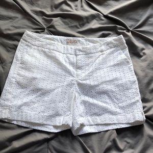 LIKE NEW!!! White Eyelet Merona Shorts (size 4)